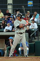 Frederick Keys outfielder Jeremy Nowak #11 at bat during a game against the Myrtle Beach Pelicans at Tickerreturn.com Field at Pelicans Ballpark on April 25, 2012 in Myrtle Beach, South Carolina. Myrtle Beach defeated Frederick by the score of 3-1. (Robert Gurganus/Four Seam Images)