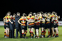 Richmond Rugby debrief after the game during the English National League match between Richmond and Blackheath  at Richmond Athletic Ground, Richmond, United Kingdom on 4 January 2020. Photo by Carlton Myrie.