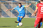 Max Mueller (Nr.27, FC Astoria Walldorf) am Ball  beim Spiel in der Regionalliga, FC Astoria Walldorf - Rot-Weiss Koblenz.<br /> <br /> Foto © PIX-Sportfotos *** Foto ist honorarpflichtig! *** Auf Anfrage in hoeherer Qualitaet/Aufloesung. Belegexemplar erbeten. Veroeffentlichung ausschliesslich fuer journalistisch-publizistische Zwecke. For editorial use only. DFL regulations prohibit any use of photographs as image sequences and/or quasi-video.