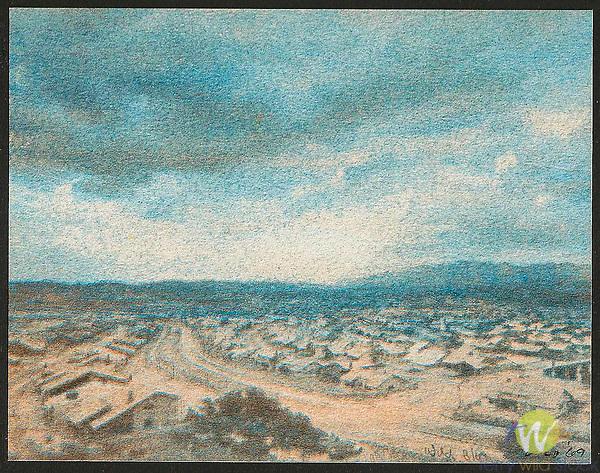 Scan from vintage print. Gum bichromate. San Fernando Valley, CA 1971; 1 of 1