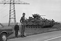 """- NATO exercises in Germany, German Army """"Marder""""  infantry armored combat vehicle  (October 1983)<br /> <br /> - esercitazioni NATO in Germania, veicolo corazzato da combattimento per fanteria  """"Marder (ottobre 1983)"""