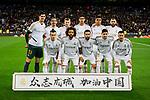 Team photo of Real Madrid during La Liga match between Real Madrid and RC Celta de Vigo at Santiago Bernabeu Stadium in Madrid, Spain. February 16, 2020. (ALTERPHOTOS/A. Perez Meca)