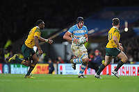 Tomas Lavanini of Argentina in action during the Semi Final of the Rugby World Cup 2015 between Argentina and Australia - 25/10/2015 - Twickenham Stadium, London<br /> Mandatory Credit: Rob Munro/Stewart Communications