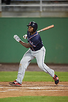 Salem Red Sox first baseman Josh Ockimey (30) at bat during the second game of a doubleheader against the Potomac Nationals on May 13, 2017 at G. Richard Pfitzner Stadium in Woodbridge, Virginia.  Potomac defeated Salem 3-2.  (Mike Janes/Four Seam Images)