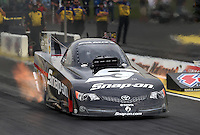 May 10, 2013; Commerce, GA, USA: NHRA funny car driver Cruz Pedregon during qualifying for the Southern Nationals at Atlanta Dragway. Mandatory Credit: Mark J. Rebilas-