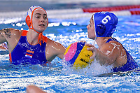 Sabrina Van Der Sloot of Netherlands , Eleni Xenaki of Greece <br /> Netherlands NED Vs Greece GRE <br /> Semifinal 1st-4th place  <br /> Trieste (Italy) 23/01/2021 Bruno Bianchi Aquatic Center <br /> Fina Women's Water Polo Olympic Games Qualification Tournament 2021 <br /> Photo Andrea Staccioli / Deepbluemedia / Insidefoto