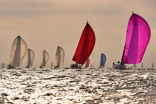 The fleet in the 2021 Morgan Cup Race from Cowes to Dartmouth