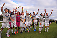 The Auckland City team thanks fans after the fulltime whistle of the Oceania Football Championship final (second leg) football match between Team Wellington and Auckland City FC at David Farrington Park in Wellington, New Zealand on Sunday, 7 May 2017. Photo: Dave Lintott / lintottphoto.co.nz