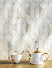 Madison, a hand-cut stone mosaic, shown in polished Calacatta Gold, is part of the Semplice® collection for New Ravenna.