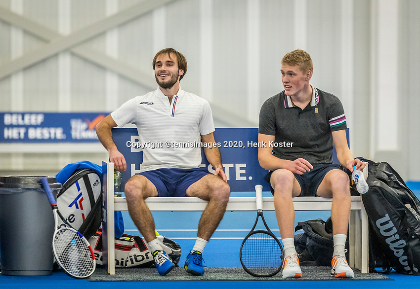 Amstelveen, Netherlands, 17  December, 2020, National Tennis Center, NTC, NK Indoor, National  Indoor Tennis Championships, Doubles   :   Guy den Heijer (NED) and <br /> Jarno Jans (NED) (R)<br /> Photo: Henk Koster/tennisimages.com