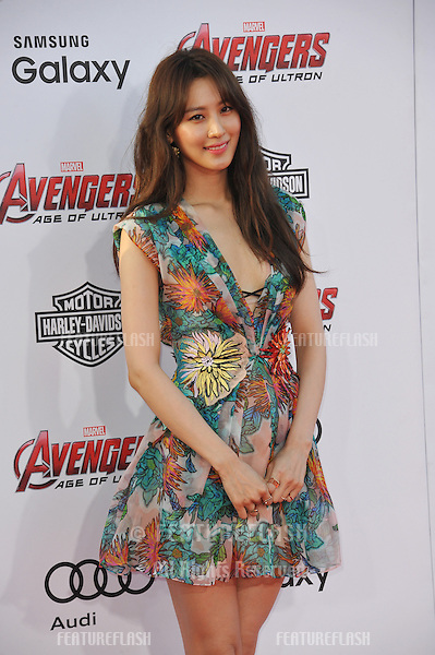 """Claudia Kim at the world premiere of her movie """"Avengers: Age of Ultron"""" at the Dolby Theatre, Hollywood.<br /> April 13, 2015  Los Angeles, CA<br /> Picture: Paul Smith / Featureflash"""