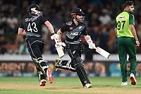 20th December 2020; Hamilton, New Zealand;  Kane Williamson (R) and Tim Seifert, New Zealand Black Caps versus Pakistan, International Twenty20 Cricket. Seddon Park, Hamilton, New Zealand.