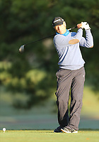 17th October 2020; Richmond, Virginia, USA;  Bernhard Langer takes a practice swing on the 2nd tee during the Dominion Energy Charity Classic on October 17, 2020, at The Country Club of Virginia James River Course in Richmond