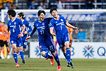 Ulsan Hyundai Forward Kim Insung (R) celebrating his score with Ulsan Hyundai Defender Kim Changsoo (L) during the AFC Champions League 2017 Group E match between Ulsan Hyundai FC (KOR) vs Brisbane Roar (AUS) at the Ulsan Munsu Football Stadium on 28 February 2017 in Ulsan, South Korea. Photo by Victor Fraile / Power Sport Images