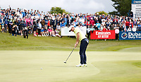 4th July 2021; Mount Juliet Golf Club, Kilkenny, Ireland; Dubai Duty Free Irish Open Golf, Day Four; Rory Mcilroy of Northern Ireland putts on the 18th green
