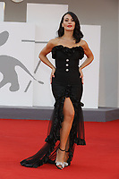 """VENICE, ITALY - SEPTEMBER 10: Mayra Pietrocola on the red carpet for the movie """"Un Autre Monde"""" during the 78th Venice International Film Festival on September 10, 2021 in Venice, Italy.<br /> CAP/GOL<br /> ©GOL/Capital Pictures"""
