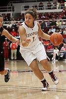 STANFORD, CA - FEBRUARY 7:  Grace Mashore of the Stanford Cardinal during Stanford's 77-39 win over USC on February 7, 2010 at Maples Pavilion in Stanford, California.