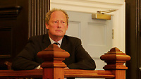 BNPS.co.uk (01202) 558833. <br /> Pic: Heart&SoulFilms/BNPS<br /> <br /> Pictured: An actor played the part of Richard Drax<br /> <br /> Schoolchildren as young as 12 took part in an eight hour mock trial of a millionaire Tory MP over slavery 'charges' relating to his ancestors, it has been revealed.<br />  <br /> Richard Drax was put in the fictional dock charged with 'benefitting from the proceeds of slavery' due to his relatives' involvement in the slave trade.<br /> <br /> Forty pupils aged between 12 and 18 were involved in the case, taking on the roles of prosecution and defence lawyers while others were split into three juries.<br /> <br /> The event was organised by leading human rights lawyer Clive Stafford Smith who acted as the judge.
