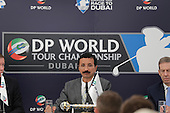 H.E. Sultan Ahmed Bin Sulayem Chairman of DP World, at the DP world Tour Championship extension announcement during round 1 of the 2015 BMW PGA Championship over the West Course at Wentworth, Virgina Water, London. 21/05/2015<br /> Picture Fran Caffrey, www.golffile.ie: