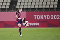KASHIMA, JAPAN - AUGUST 5: Tierna Davidson #12 of the United States during a game between Australia and USWNT at Kashima Soccer Stadium on August 5, 2021 in Kashima, Japan.