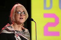 Montreal, CANADA, March 4, 2015. Carole Brabant, Telefilm Canada<br /> attend <br /> the presentation of the 2014 Guichet d'Or Award to Xavier Dolan for his succes of MOMMY ; t he Canadian French-language feature film with the highest-grossing domestic box-office sales in 2014.<br /> <br /> The Guichet d'Or comes with a total $40,000 cash prize to the writer ($20,000) and the director ($20,000) of the film.