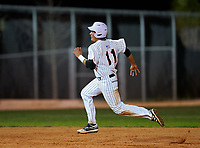 Sarasota Sailors Daniel Torrealba (11) running the bases during a game against the Riverview Rams on February 19, 2021 at Rams Baseball Complex in Sarasota, Florida. (Mike Janes/Four Seam Images)