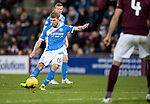 Hearts v St Johnstone…05.11.16  Tynecastle   SPFL<br />David Wotherspoon's free kick hits the post and the re-bound is put in the net by Joe Shaughnessy only to see it rulked off-side<br />Picture by Graeme Hart.<br />Copyright Perthshire Picture Agency<br />Tel: 01738 623350  Mobile: 07990 594431