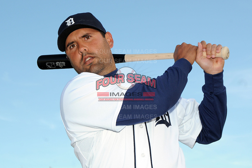 Feb 21, 2009; Lakeland, FL, USA; The Detroit Tigers catcher Gerald Laird (8) during photoday at Tigertown. Mandatory Credit: Tomasso De Rosa/ Four Seam Images