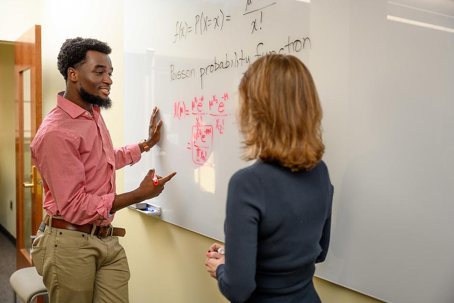 January 14, 2020; Applied and Computational Mathematics and Statistics undergraduate student and professor (Photo by Matt Cashore/University of Notre Dame)