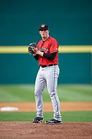 Erie SeaWolves starting pitcher Kyle Funkhouser (36) during a game against the Binghamton Mets on May 14, 2018 at NYSEG Stadium in Binghamton, New York.  Binghamton defeated Erie 6-5.  (Mike Janes/Four Seam Images)
