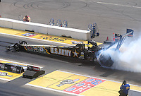 Aug. 21, 2011; Brainerd, MN, USA: NHRA top fuel dragster driver Tony Schumacher during the Lucas Oil Nationals at Brainerd International Raceway. Mandatory Credit: Mark J. Rebilas-