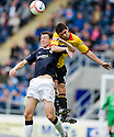 MURRAY WALLACE AND KRIS DOOHLAN JUMP FOR THE BALL
