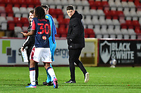 Dejected Stevenage F.C. Manager Alex Revell at the final whistle  during Stevenage vs Bolton Wanderers, Sky Bet EFL League 2 Football at the Lamex Stadium on 21st November 2020