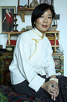 "Weise, Tibetan writer and hailed by many in the West as the ""New Voice of Tibet"", photographed at her home in Beijing, China on 04 March, 2008."