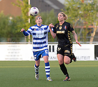AA Gent - Telstar :<br /> <br /> duel tussen Jessie Taets (L) en Priscilla de Vos (R)<br /> <br /> foto Dirk Vuylsteke / Nikonpro.be