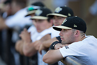 Jake Mueller (6) of the Wake Forest Demon Deacons prior to the game against the West Virginia Mountaineers in Game Four of the Winston-Salem Regional in the 2017 College World Series at David F. Couch Ballpark on June 3, 2017 in Winston-Salem, North Carolina.  The Demon Deacons walked-off the Mountaineers 4-3.  (Brian Westerholt/Four Seam Images)