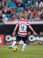 Becky Sauerbrunn.  The USWNT defeated Scotland, 4-1, during a friendly at EverBank Field in Jacksonville, Florida.