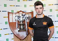 SCHOOLS CUP DRAW 2016 | Monday 16th November 2015<br /> <br /> Porter Royal captain Josh Kennedy - Ulster Schools Cup draw at Kingspan Stadium, Ravenhill Park, Belfast, Northern Ireland.<br /> <br /> Photo credit: John Dickson / DICKSONDIGITAL