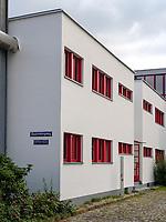 Arbeiter-Wohnanlage im Bauhaus Museum = Otto Haesler Museum in Celle, Niedersachsen, Deutschland, Europa