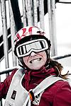 Challenge Mer et Montagne 2012, Saint Gervais les Bains, Mont Blanc, Haute Savoie, France..Ski Super Geant..Jeanne Gregoire