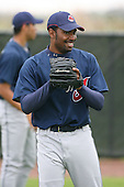 March 20th 2008:  Carlton Smith of the Cleveland Indians minor league system during Spring Training at Chain of Lakes Training Complex in Winter Haven, FL.  Photo by:  Mike Janes/Four Seam Images