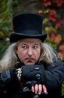 Publicity photo of singer/songwriter Roland Ruby in Halloween costume.