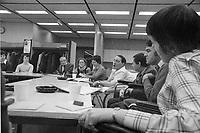 Claude Brunet, comite provincial des malades, dans les annees 70, date exacte inconnue<br /> <br /> Photo : Agence Quebec Presse  - Alain Renaud