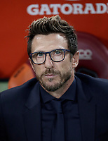 Calcio, Serie A: Roma, stadio Olimpico, 26 agosto, 2017.<br /> AS Roma's coach Eusebio Di Francesco waits for the start of the Italian Serie A football match between Roma and Inter at Rome's Olympic stadium, AUGUST 26, 2017.<br /> UPDATE IMAGES PRESS/Isabella Bonotto