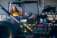 Sep 26, 2020; Gainesville, Florida, USA; NHRA top fuel team owner Connie Kalitta looks on during qualifying for the Gatornationals at Gainesville Raceway. Mandatory Credit: Mark J. Rebilas-USA TODAY Sports