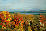 Fall view of Rangeley Lake, Rangeley, Maine, USA