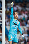 Goalkeeper Norberto Murara Neto of Valencia CF gestures during their La Liga 2017-18 match between Real Madrid and Valencia CF at the Estadio Santiago Bernabeu on 27 August 2017 in Madrid, Spain. Photo by Diego Gonzalez / Power Sport Images
