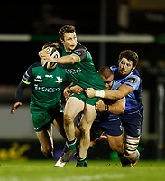 20th February 2021; Galway Sportsgrounds, Galway, Connacht, Ireland; Guinness Pro 14 Rugby, Connacht versus Cardiff Blues; Jack Carty holds on to the ball for Connacht