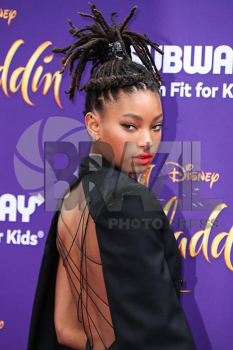 HOLLYWOOD, EUA, 21.05.2019 - PREMIERE-ALADDIN - Willow Smith durante tapete vermelho do filma Aladdin no El Capitan Theatre em Hollywood nos Estados Unidos nesta terça-feira, 21. (Foto: Brazil Photo Press/Folhapress)