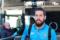 Jacob Butterfield of Bradford City (derby loan) arriving before the Sky Bet League 1 match between Wycombe Wanderers and Bradford City at Adams Park, High Wycombe, England on 2 February 2019. Photo by Thomas Gadd.